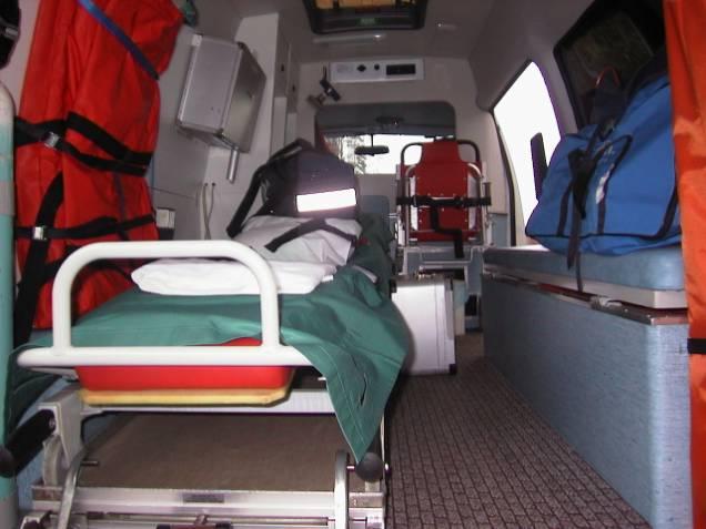 Sisäkuva ambulanssista